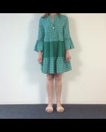Donkergroen geruit kleedje