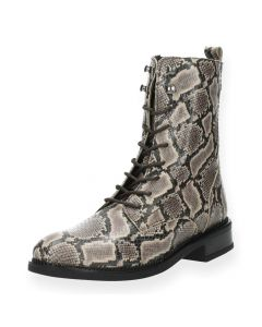 Slangenprint bottines
