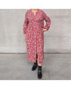 Rood bloemenprint kleed
