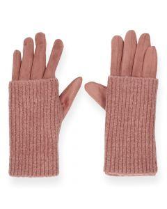 Roze handschoenen