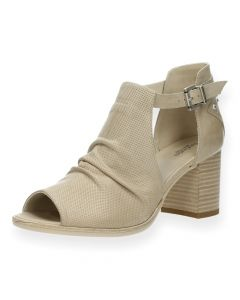 Beige sandalen met hak