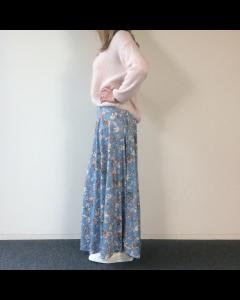 Blauwe rok Flower