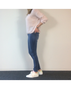 Blauwe jeansbroek