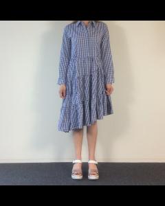 Blauw geruit kleedje