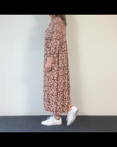Beige bloemenprint kleed