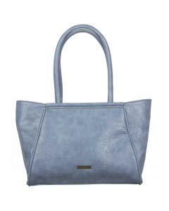 Blauwe shopper Puff