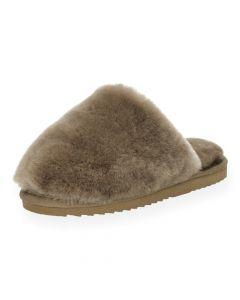 Taupe pantoffels Mungo