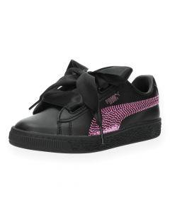 Zwarte sneakers Heart Bling