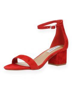 Rode sandalen met hak Irenee