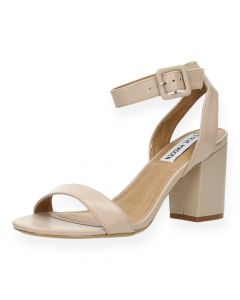 Beige sandalen met hak Blush