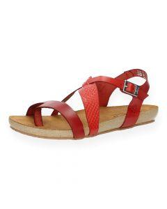 Rode sandalen Ibiza