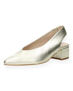 Metallic slingbacks