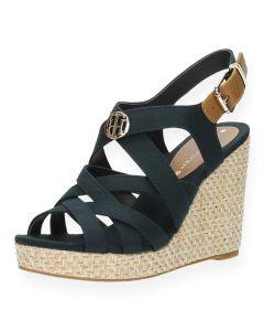Blauwe sandalen met sleehak Iconic Elena