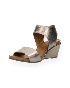 Bronzen sandalen met sleehak