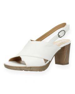 Witte sandalen met hak