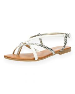 Witte sandalen