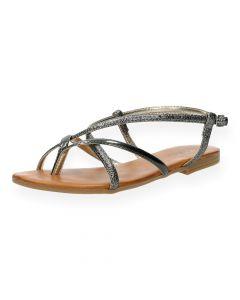 Metallic sandalen