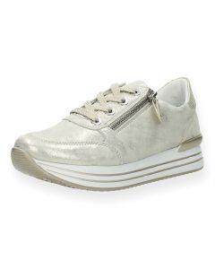Metallic beige sneakers