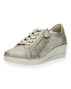 Metallic beige sneakers