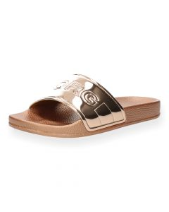 Metallic roze slippers Harper