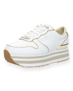 Witte sneakers Flatform
