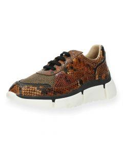 Slangenprint sneakers