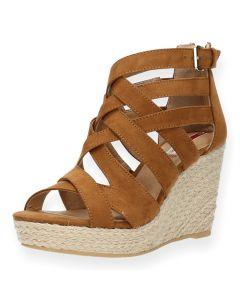 Camel sandalen sleehak