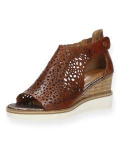Bruine sandalen sleehak