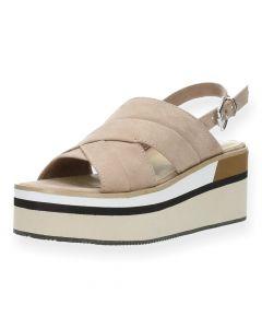 Lichtroze sandalen