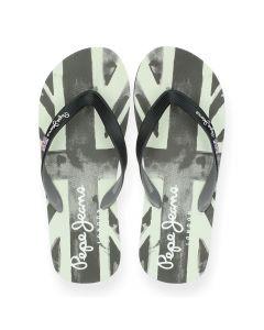 Zwarte slippers Hawi Banner