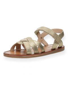 Gouden sandalen Fanny