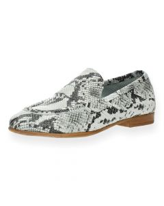 Slangenprint mocassins