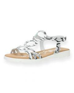 Slangenprint sandalen