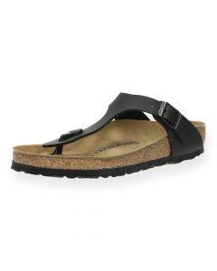 Zwarte slippers Gizeh