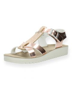 Metalli roze sandalen Nicea