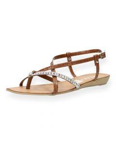 Bruine sandalen Sicilie
