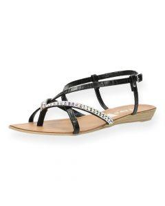 Zwarte sandalen Sicilie