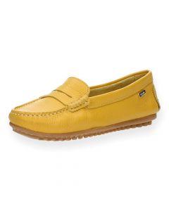 Gele mocassins