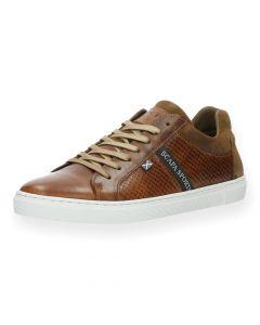 Cognac sneakers Bis