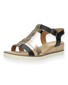 Luipaardprint sandalen