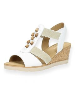 Witte sandalen sleehak