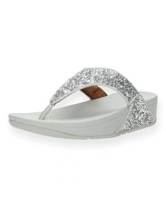 Zilveren slippers Lulu