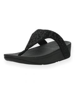 Zwarte slippers Lottie