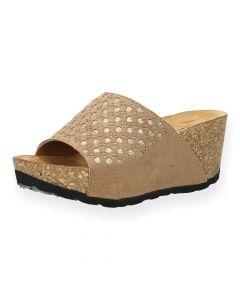 Beige slippers sleehak