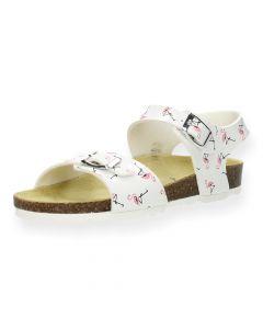 Witte sandalen Flamingo