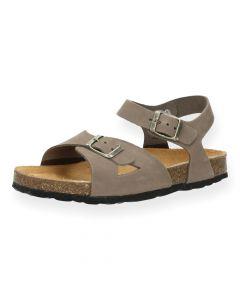 Taupe sandalen