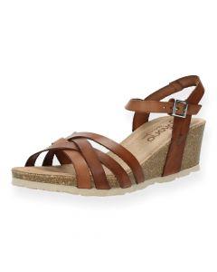 Cognac sandalen Cadiz