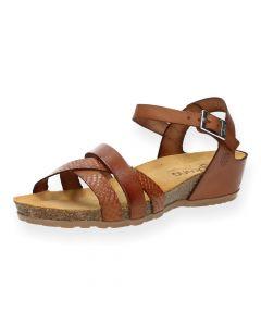 Cognac sandalen Capri