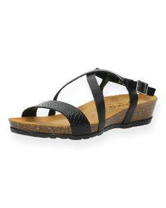 Zwarte sandalen Capri