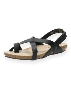Zwarte sandalen Ibiza